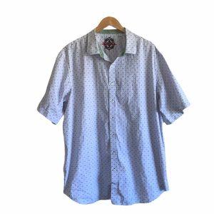 Robert Graham short sleeve shirt blue orange 2XLT